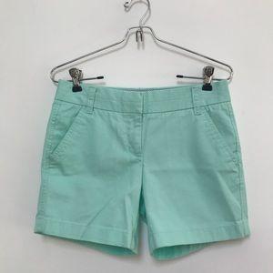 J. Crew Chino Shorts Light Sea Green Size …